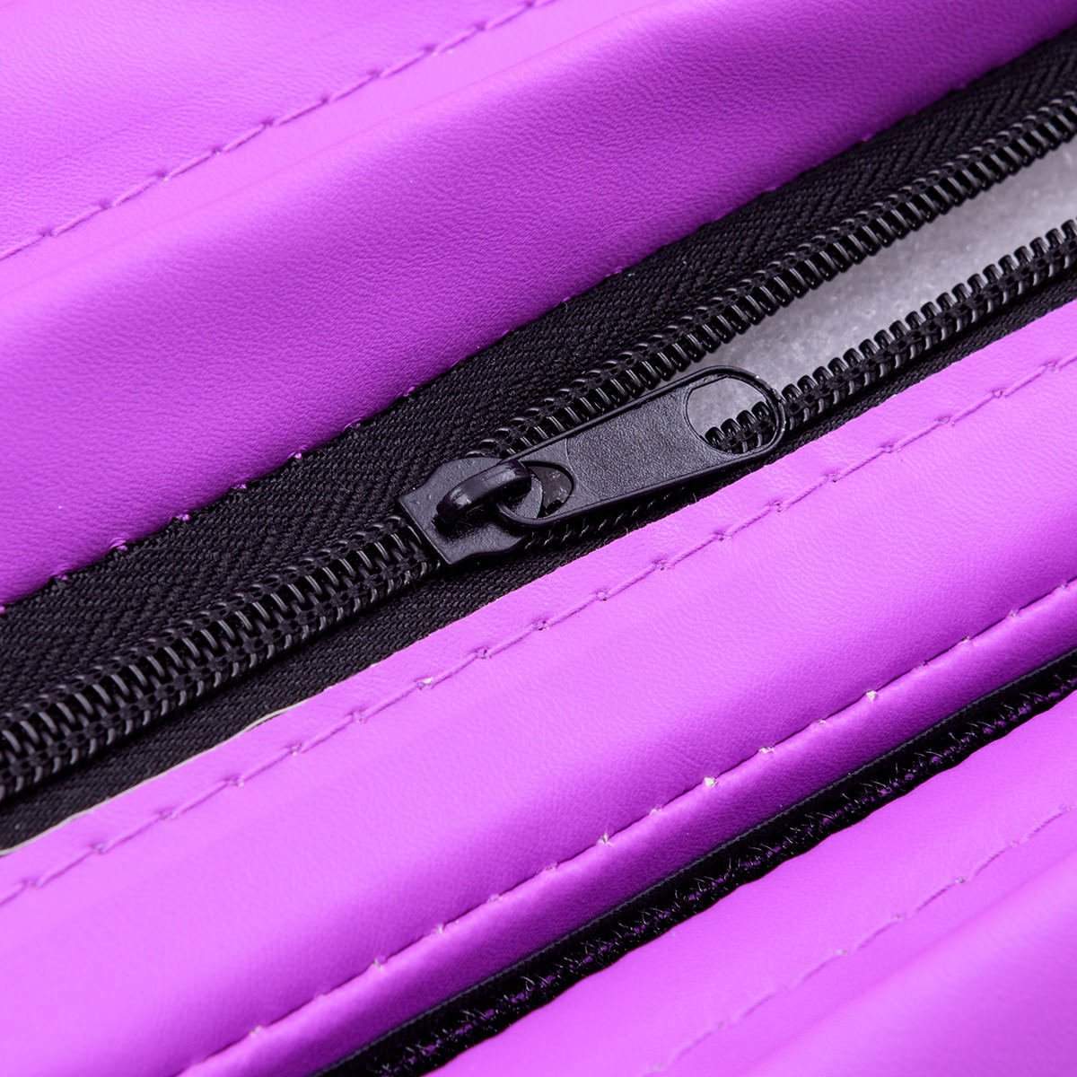 Giantex 4'x10'x2 Gymnastics Mat Thick Folding Panel for Gym Fitness with Hook & Loop Fasteners (Pink/Purple-Small Triangle)