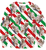 Uideazone Unsiex Ugly Christmas Sweater Funny Print Pullover Sweatshirts Graphic Long Sleeve Shirts