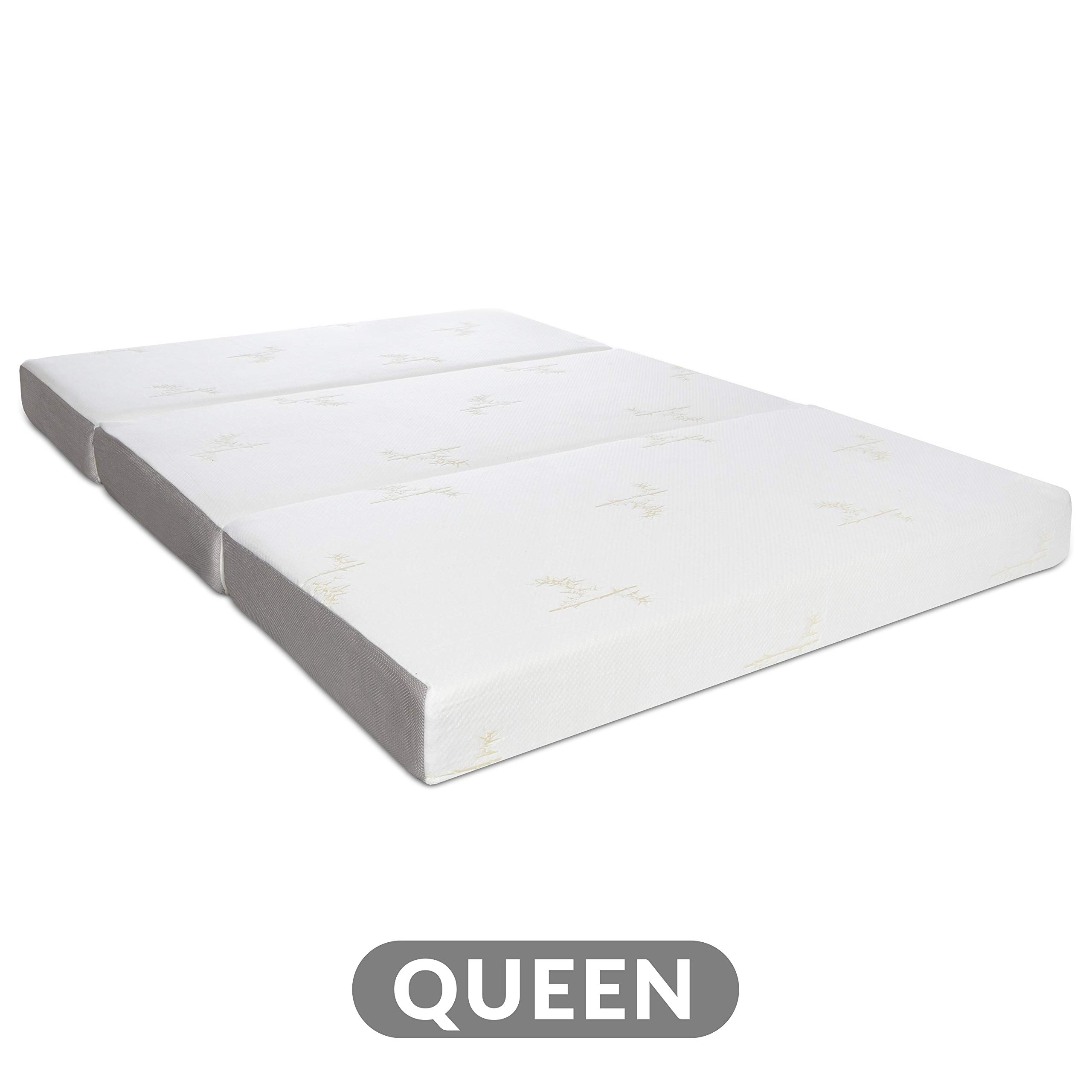 Milliard Tri Folding Memory Foam Mattress with Washable Cover Queen (78 inches x 58 inches x 6 inches) by Milliard