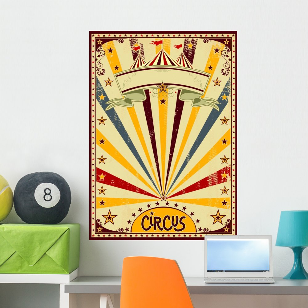 Amazon.com: Wallmonkeys Circus Wall Mural Peel and Stick Decals for ...