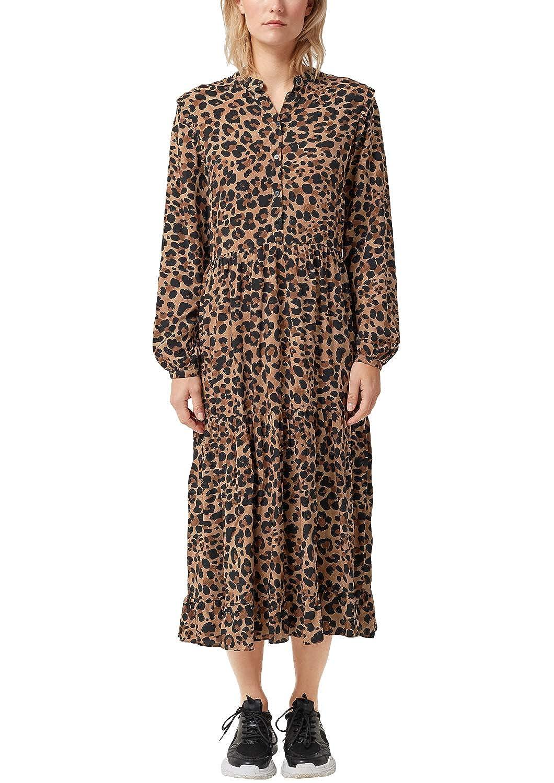 auf großhandel Details für beste Qualität s.Oliver RED LABEL Damen Blusenkleid mit Leo-Muster: s ...