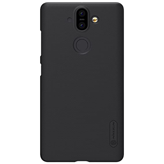 low priced b27c2 22682 Nokia 8 Sirocco Case, Nillkin Frosted Shield Hard Slim Case Back Cover  [with Screen Protector] for Nokia 8 Sirocco (Black)