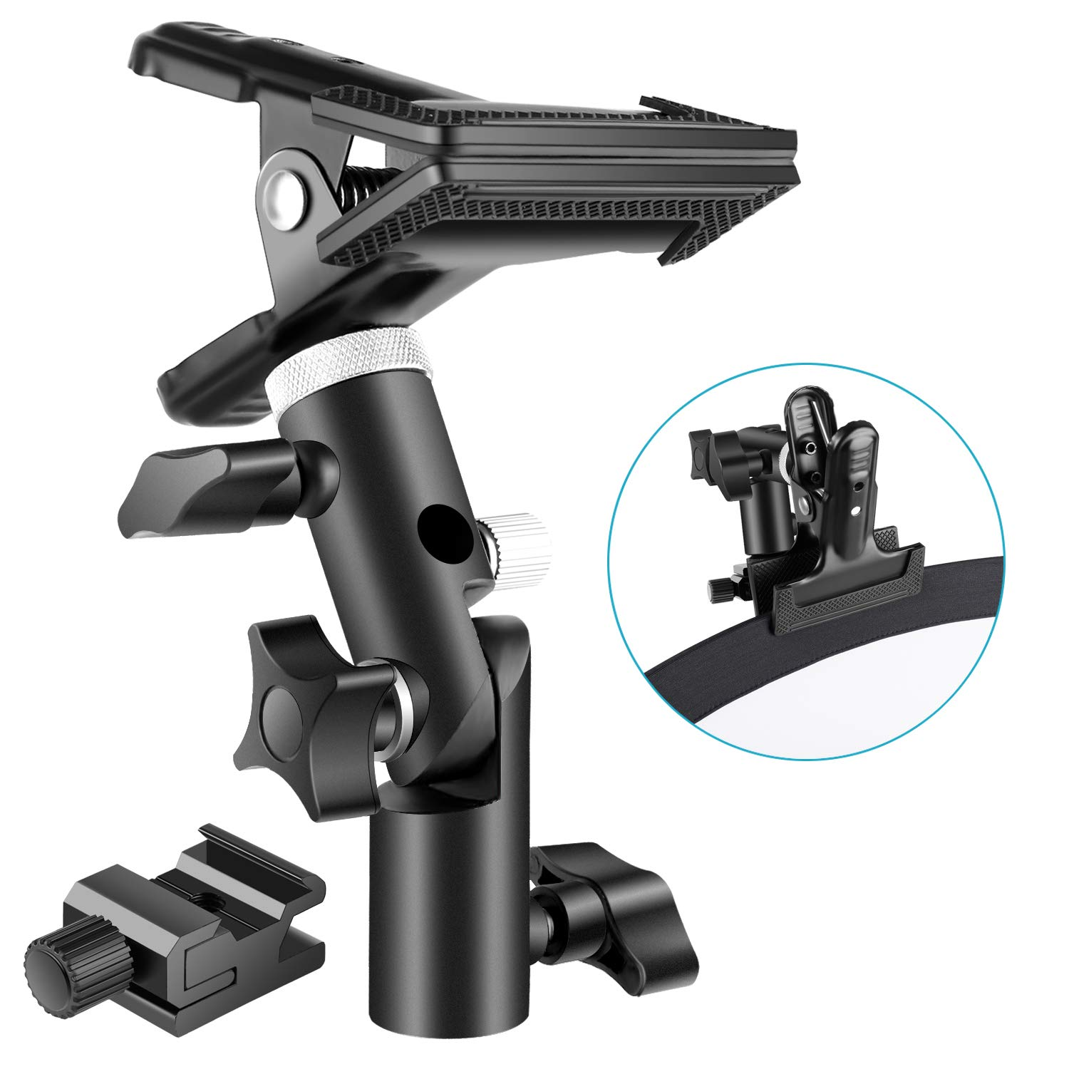 Neewer Photo Studio Heavy Duty Metal Clamp Holder and Cold..