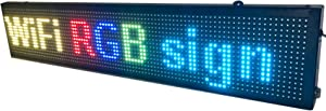 LED WiFi+USB RGB color sign 40