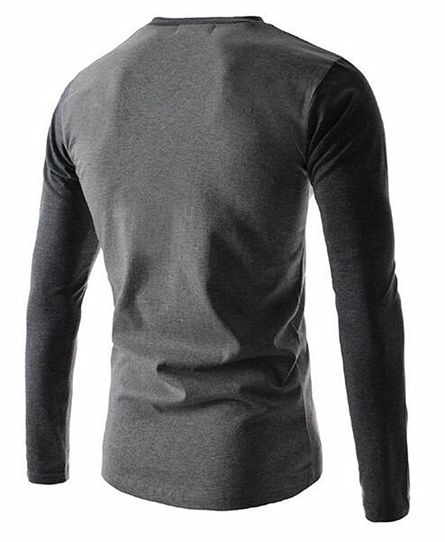 Kaured Trendy Mens fashion long-sleeved Slim round neck