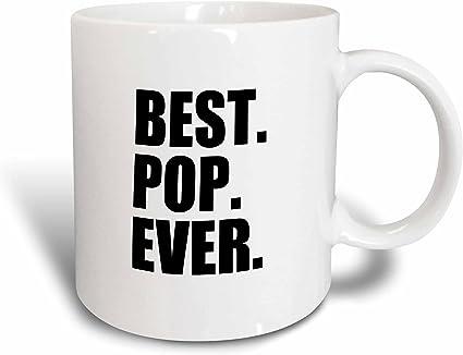 3dRose mug 151490_ 1' mejor Pop nunca–regalos para Papás–Padre apodo–bueno para día del padre'taza 311 8gram color negro