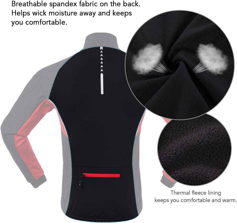 correr Tomshoo exterior chaqueta deportiva Conjunto de ropa de ciclismo de invierno para hombre camiseta de ciclismo con pantalones manga larga ciclismo cortavientos