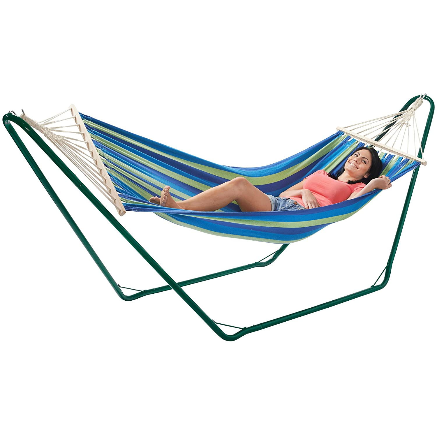 VonHaus Hammock With Metal Frame   Luxury Standing Swinging Hammock For  Outdoor, Garden And Patio
