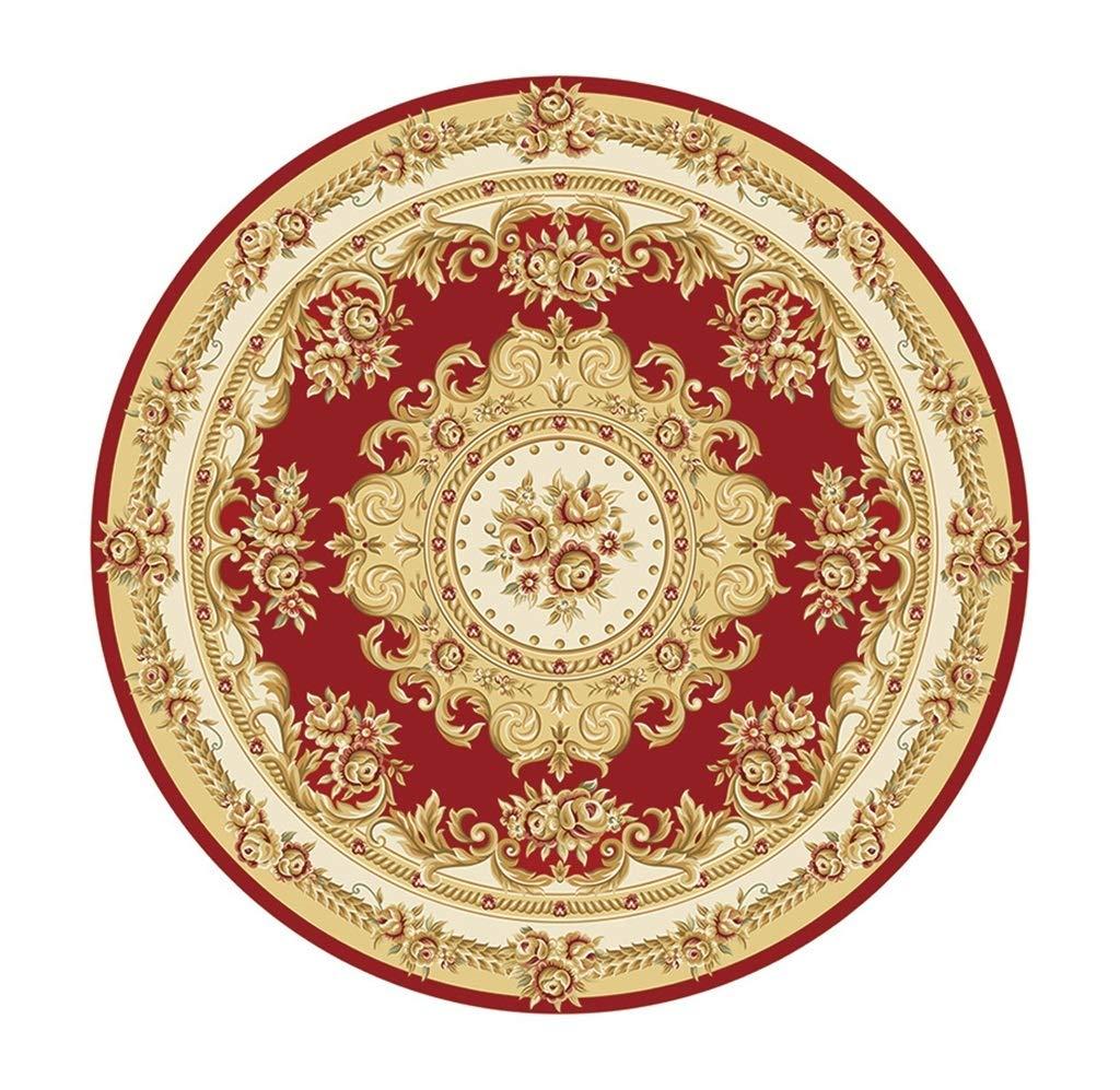 Amerikanischen Stil Runde Teppiche für Wohnzimmer Schlafzimmer Flur Fußmatte Computer Stuhl Kissen Drehstühle Korb Wasseraufnahme Rutschfeste Teppich Grün Rot Blau