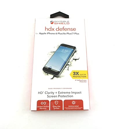 pretty nice 1789b 4bfd2 Zagg InvisibleShield HDX Screen Protector for iPhone 7 Plus I7LHTC ...