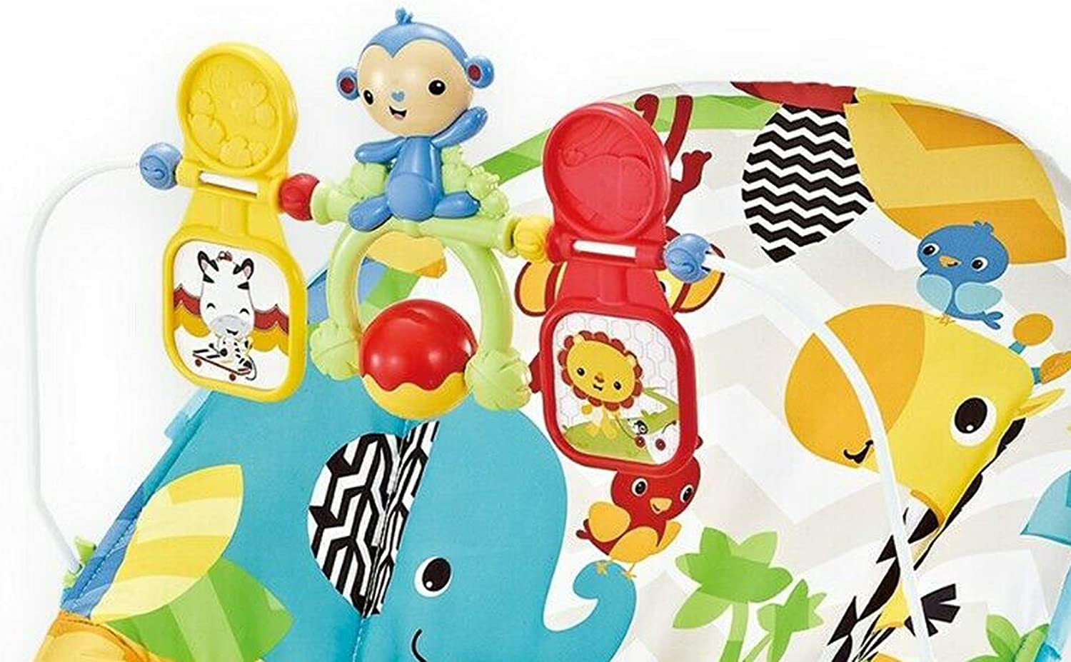 Wildlife Park Baby Rocker Animal Bouncer Chair with Soothing Music /& Vibrations