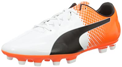 9975ccaae Puma Men's Evospeed SL-S II AG Football Boots, White Black-Shocking Orange