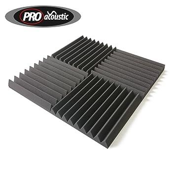 24x AFW305 Pro Acoustic Foam Wedge Tiles , Studio Sound
