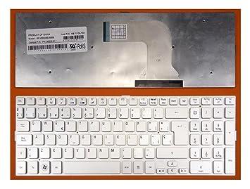 TECLADO PARA PORTATIL Acer Aspire 8943G Serie EN ESPAÑOL NUEVO SILVER PLATA: Amazon.es: Electrónica