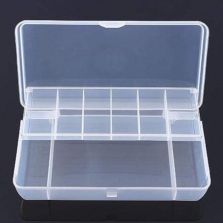AYUN - Cebo de Pesca de plástico Transparente con 2 Capas, 15 Compartimentos, Resistente al Agua, Caja de Almacenamiento: Amazon.es: Hogar