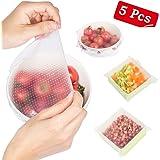 BEW Stretch Silicone Reusable Food Wraps - Set of 5