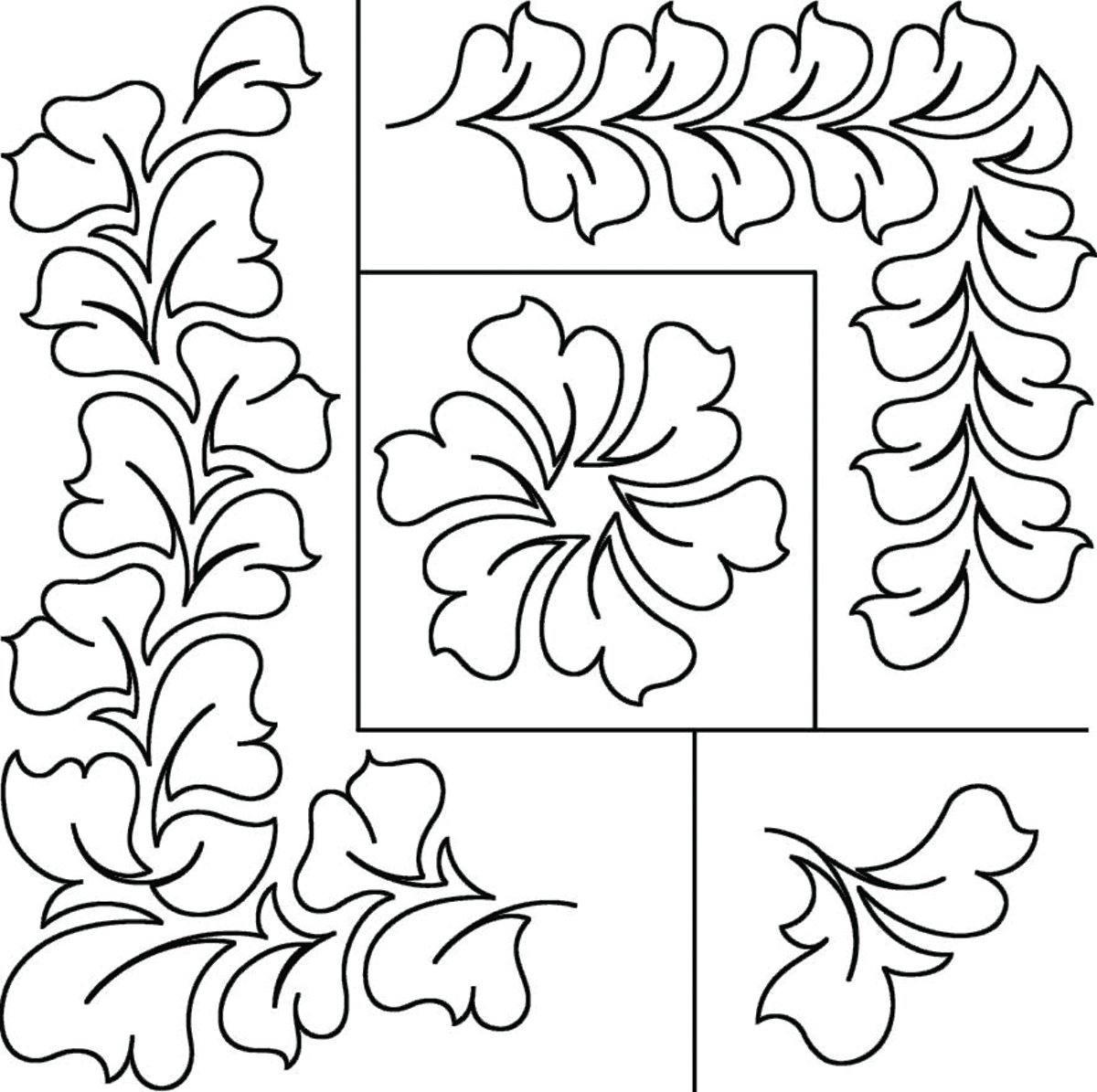 Sten Source 17-Inch by 20-Inch Quilt Stencils by Patricia Ritter, Hyacinth by Sten Source