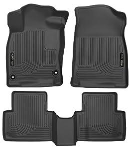 Husky Liners 98461 Black Weatherbeater Front & 2nd Seat Floor Liners Fits 2016-2019 Honda Civic Coupe/Sedan, 2017-2019 Honda Civic Hatchback