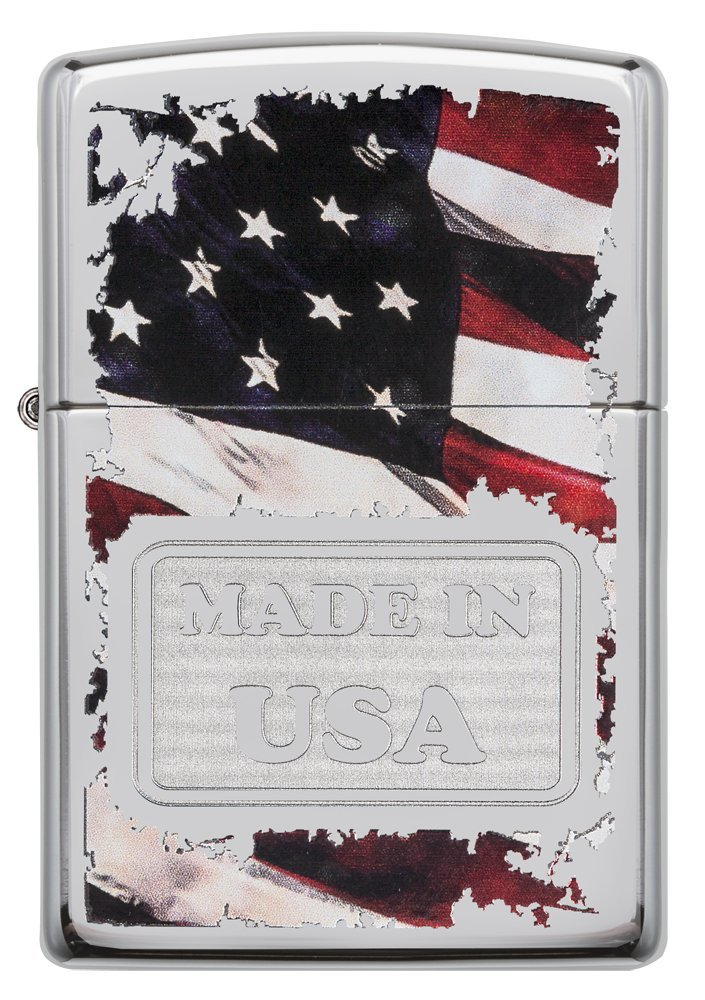 Zippo Made in USA High Polish Chrome Pocket Lighter by Zippo (Image #2)