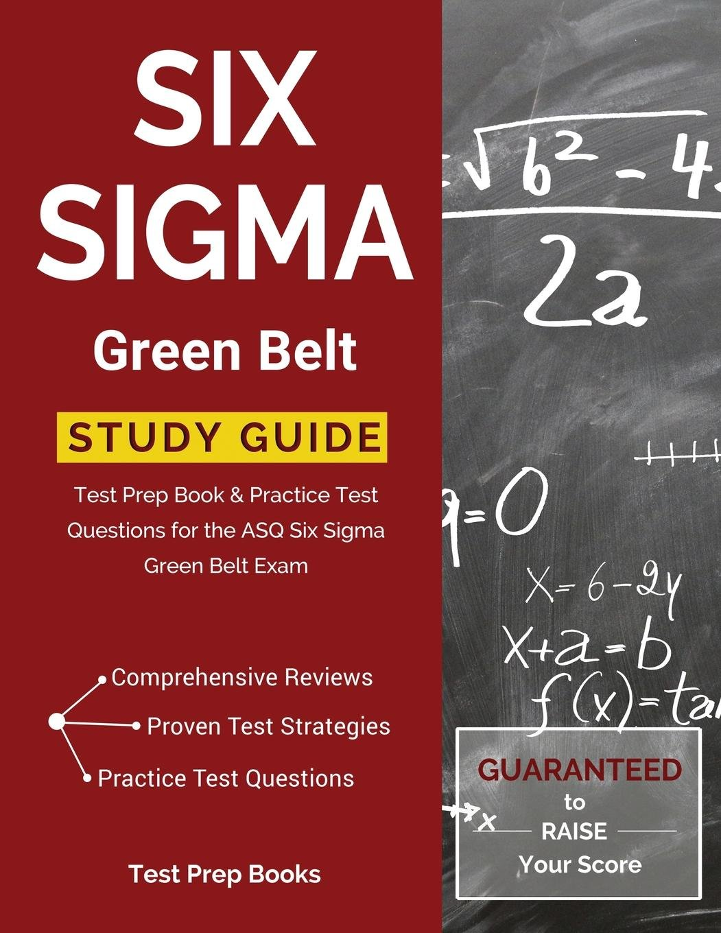 Buy Six Sigma Green Belt Study Guide Test Prep Book Practice Test