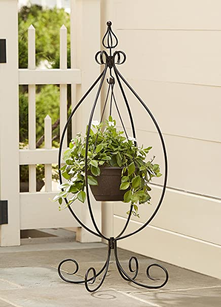 Genial Garden Hanging Basket Plant Stand Outdoor Patio Yard Deck Pot Stand