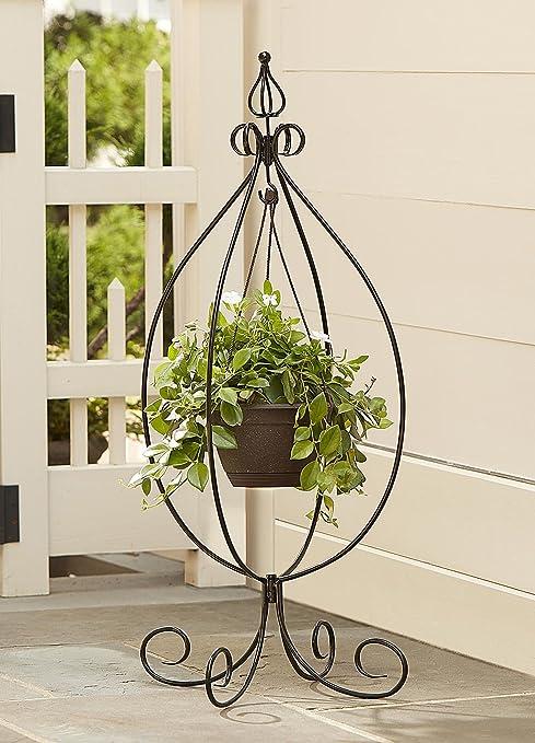 Wonderful Garden Hanging Basket Plant Stand Outdoor Patio Yard Deck Pot Stand