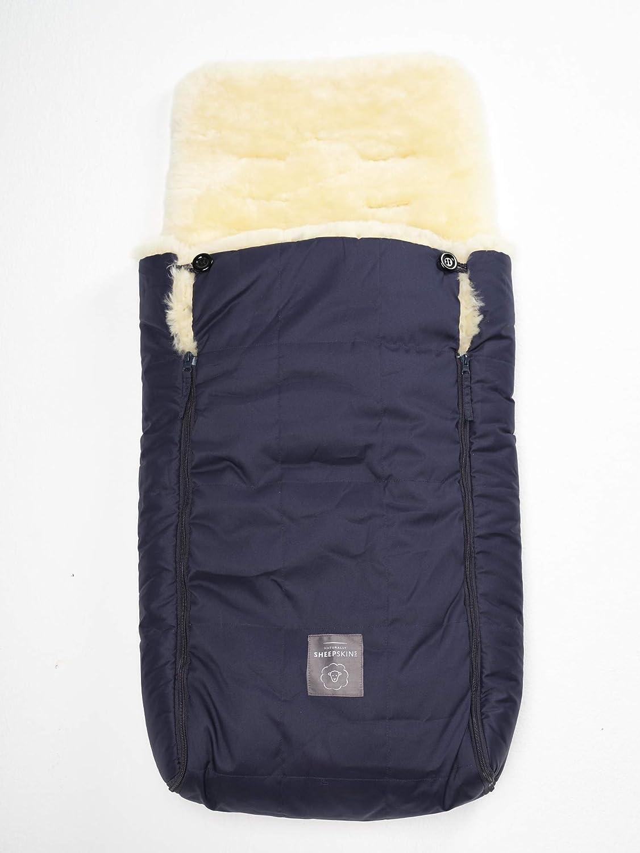 Yukon International Lammfell Fußsack Mit Rundum Reißverschluss Grau Baby