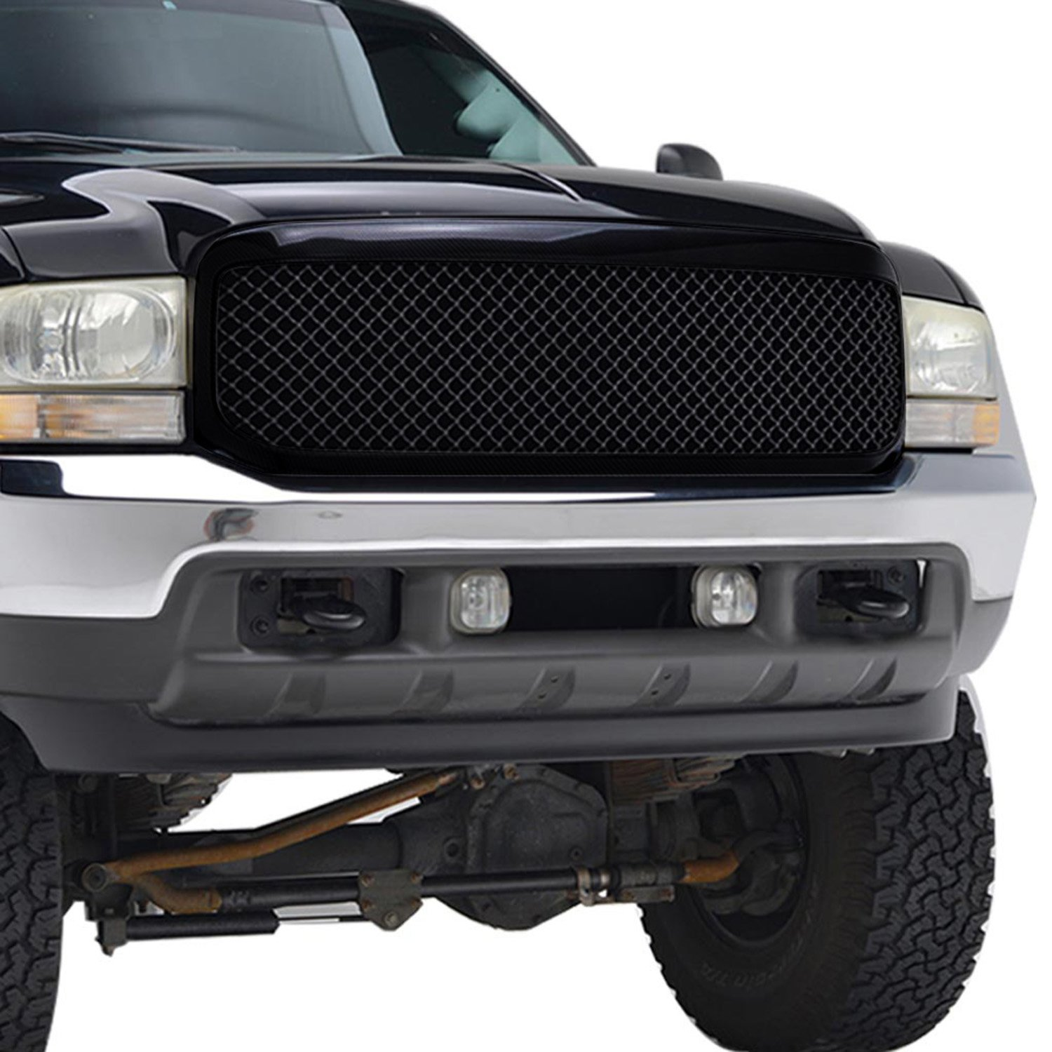 Eag 99 04 Ford F 250 350 Super Duty Replacement 2004 Black Grill Grille Abs With Shell Automotive