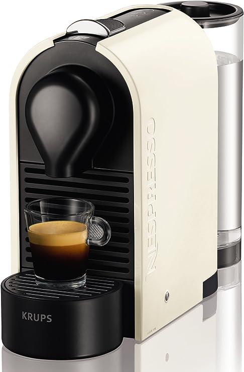 KRUPS XN 2501 U PURE Cream Nespresso U-Cafetera con cápsulas, Color, 1260 W, Blanco perla: Amazon.es: Hogar