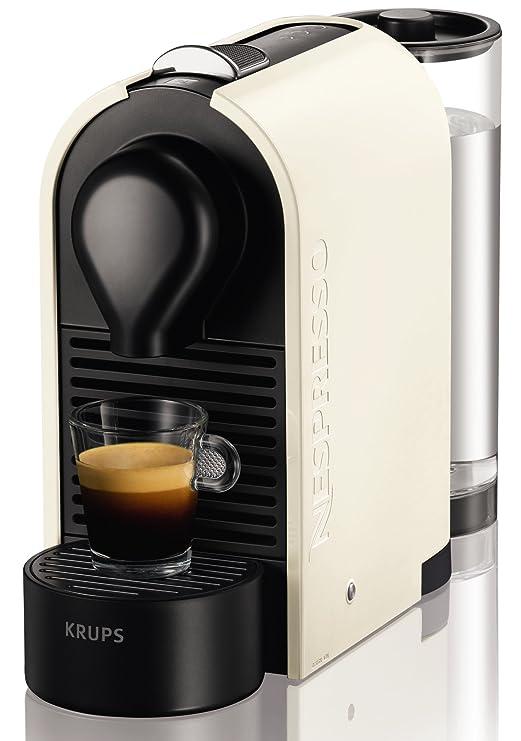 Nespresso XN 2501 U Pure Cream Krups U-Cafetera con cápsulas, Color, 1260 W, Blanco perla