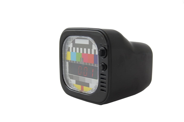 Despertador digital de LED con forma de TV Años 60 Monoscopio ...