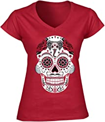 America s Finest Apparel Alabama Sugar Skull Shirt - Womens 6306de9f0