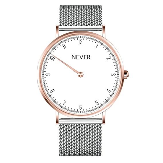Relojes Personalizados Unisex de Oro Rosa con Banda milanesa y Cristal de Zafiro
