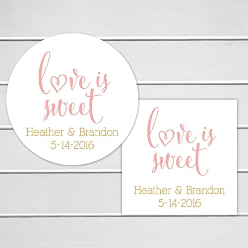 Amazoncom Love Is Sweet Wedding Favor Stickers or Bridal Shower