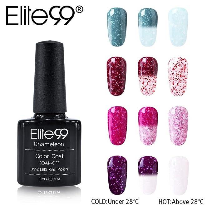 1 opinioni per Elite99 Smalto Camaleonte Semipermanente per Unghie in Gel UV LED Smalto Cambia