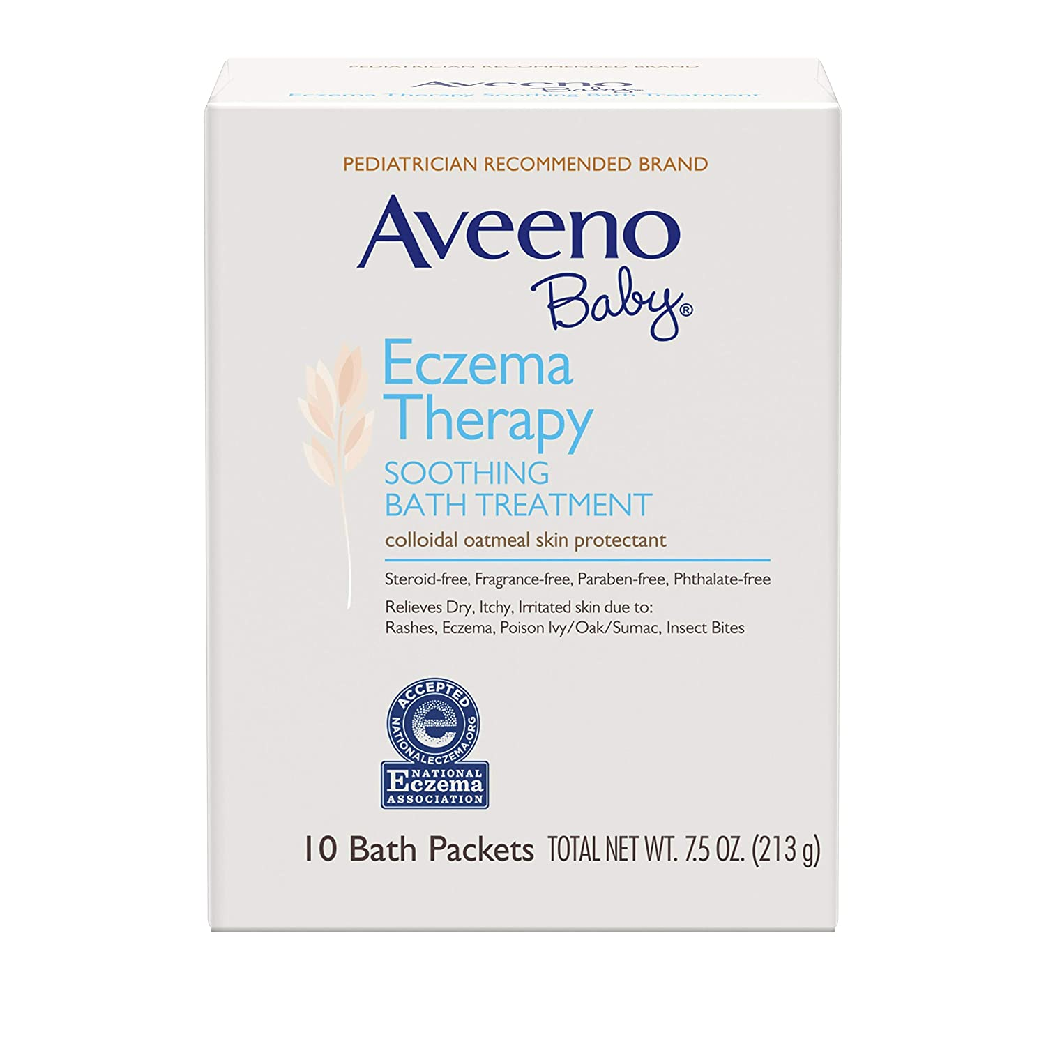 Aveeno Baby Eczema Therapy Soothing Bath Treatment with Natural Oatmeal, 10 ct.