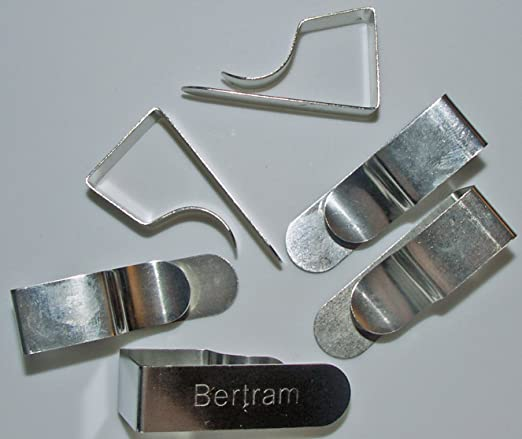 Bertram set de 6 clips mesa de dibujo niquelados: Amazon.es: Hogar