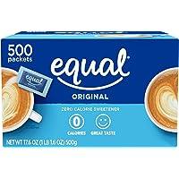 EQUAL 0 Calorie Sweetener, Sugar Substitute, Zero Calorie Sugar Alternative Sweetener Packets, Sugar Alternative, 500…