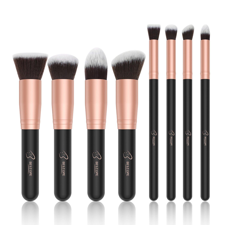 Bestope Makeup Brushes Premium Cosmetic Brush Set Synthetic Kabuki Foundation Eyeliner Blush Contour