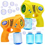 JOYIN 2 Colored Bubble Blasters Guns with 2 Bubble Solution (147 ml) for Kids, Indoor and Outdoor Play, Summer Themed…
