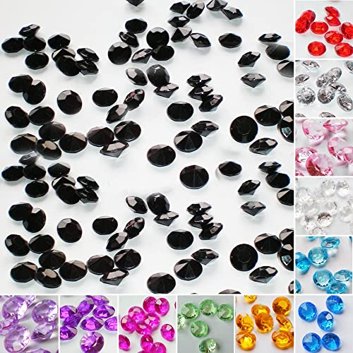 TtS 100pcs 10MM Wedding Decor Scatter Table Crystals Diamonds Acrylic Confetti #03 Black