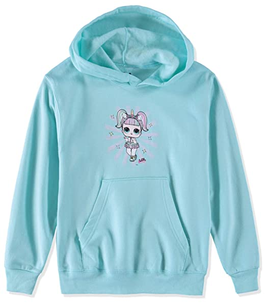 cf51b30ea L.O.L. Surprise! Girls' Long-Sleeve Pullover Sweatshirt (Teal/Unicorn,  Medium