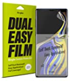 Ringke Dual Easy Full Coverage Screen Protector for Galaxy Note 9 High Resolution [Anti-Smudge Coating] Easy Application Case Friendly Screen Protector for Samsung Galaxy Note 9 (2018) [2-Pack]