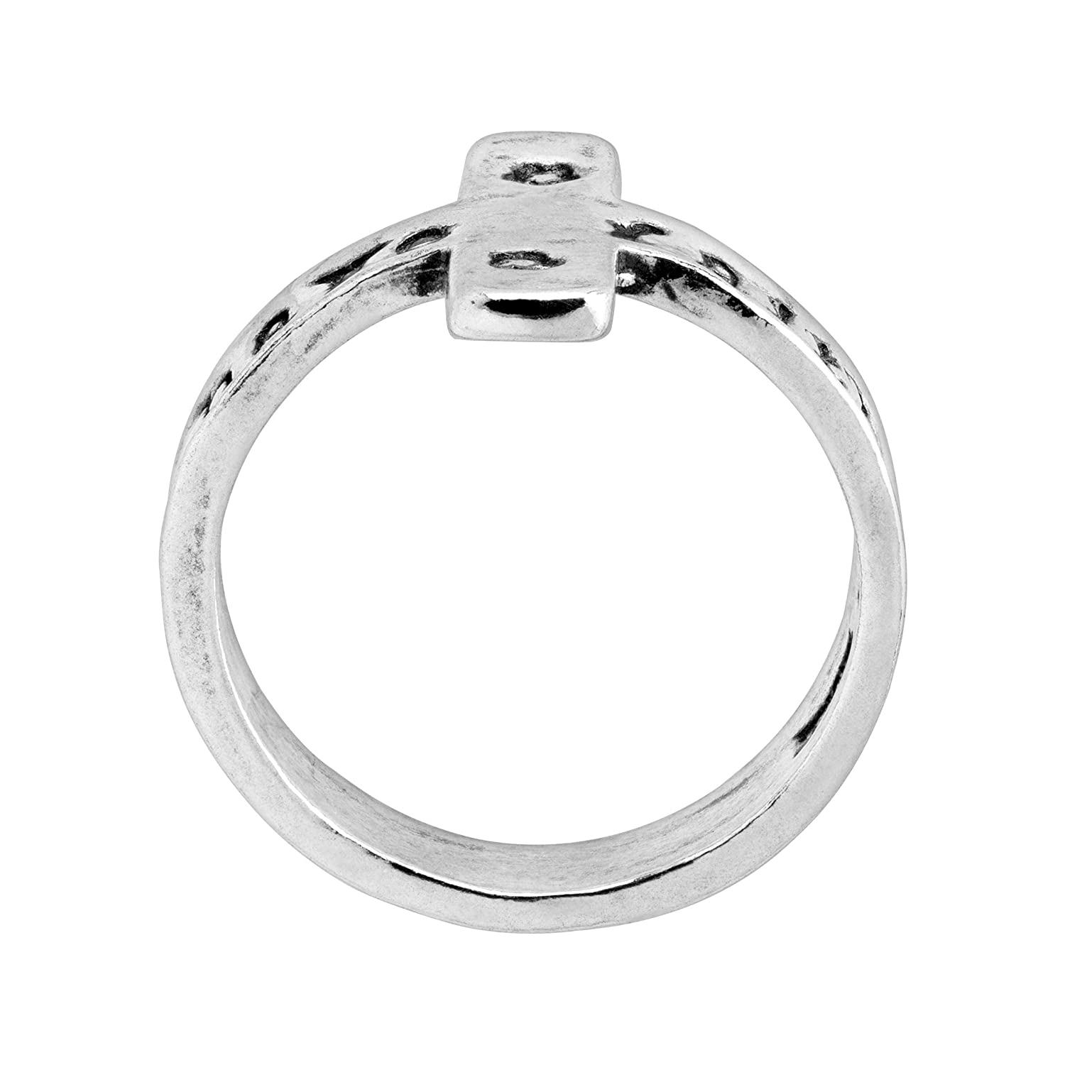 Silpada Have Faith Engraved Cross Ring in Sterling Silver