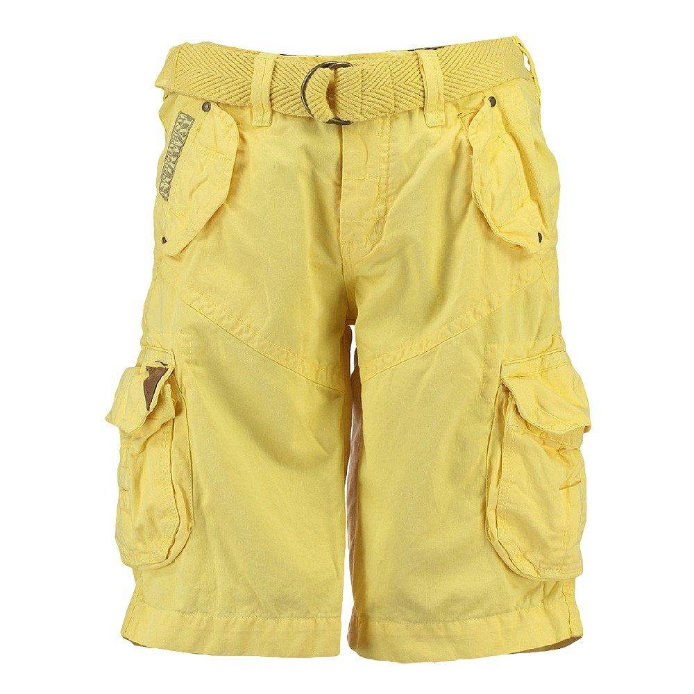 Geographical Norway Pantalones cortos de Carga geográficas hombres Noruega corto Bermuda polaco Hombres Yellow (amarillo)