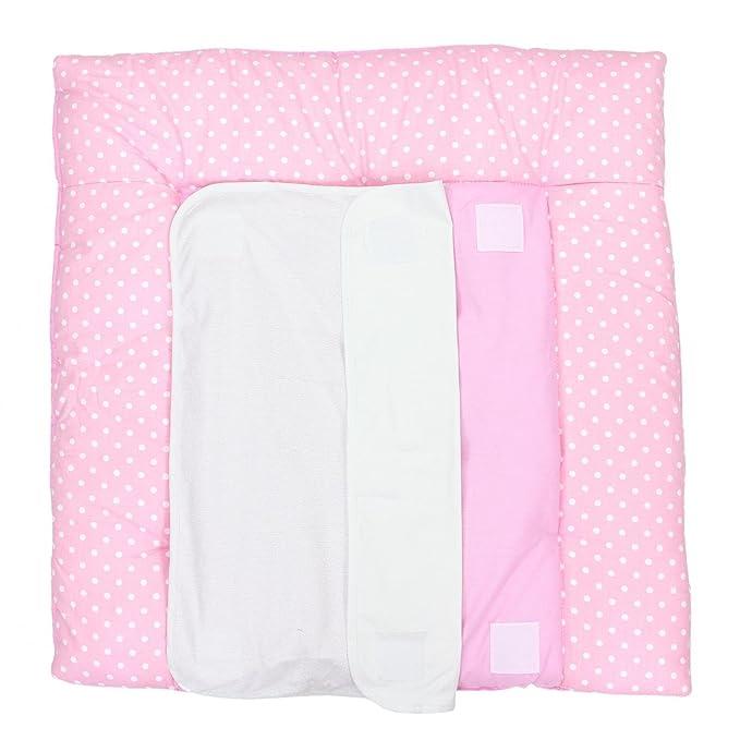 f wasserfest 80 cm Wickelaufsatz Punkte rosa Wickelauflage 77 x 73 cm