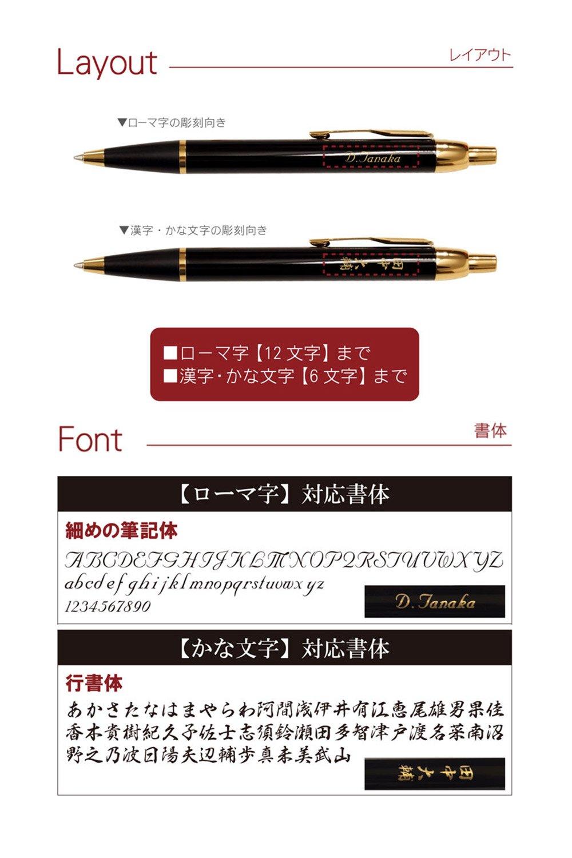 PARKER IM 名入れ ボールペン 7特盛ギフトセット ブラック
