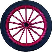 HSI ruedas de radios, plástico, rojo, 180mm, 1pieza