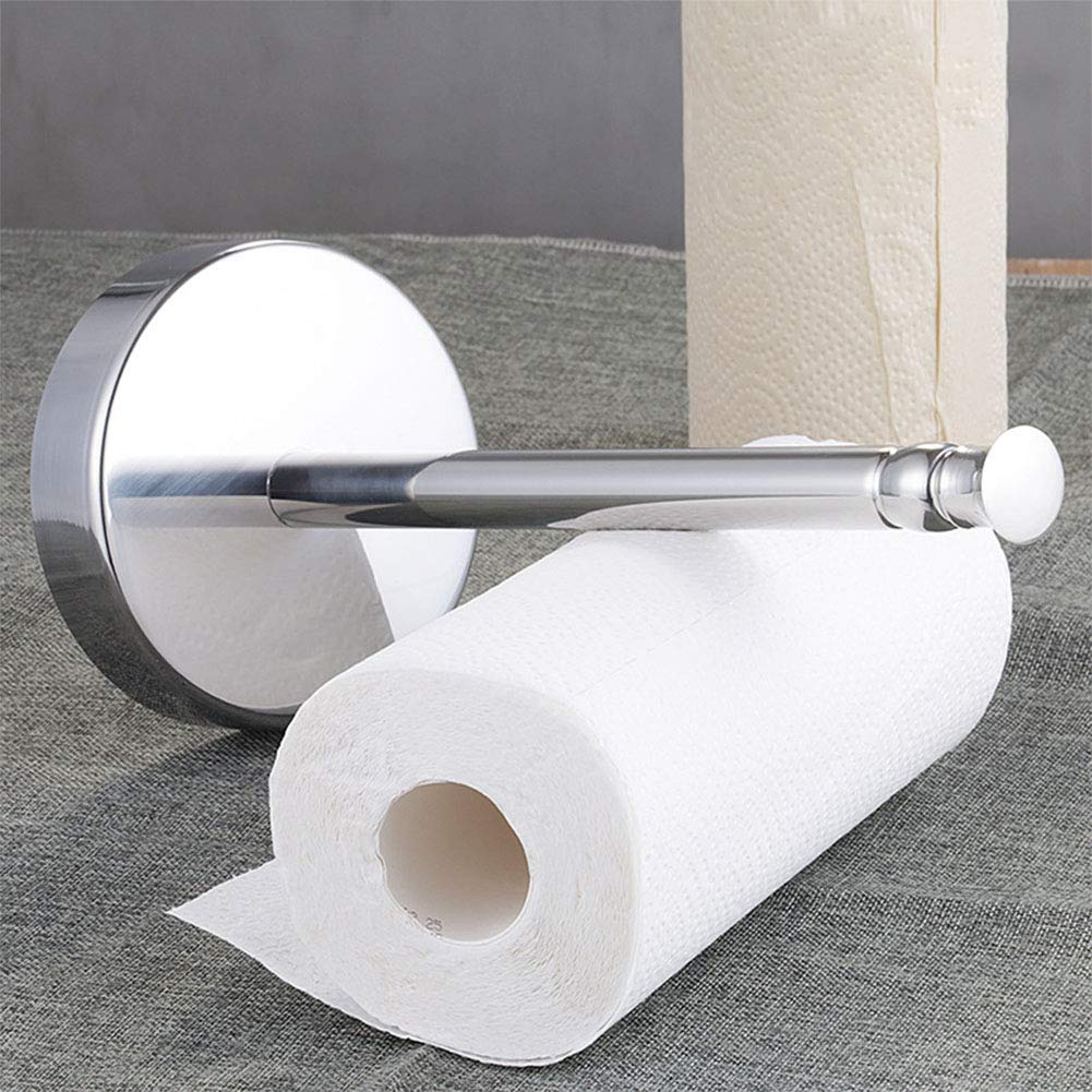 Accreate Practical Stand-Type Kitchen Paper Holder, Toilet Paper Roll Rack Table Paper Towel Stand