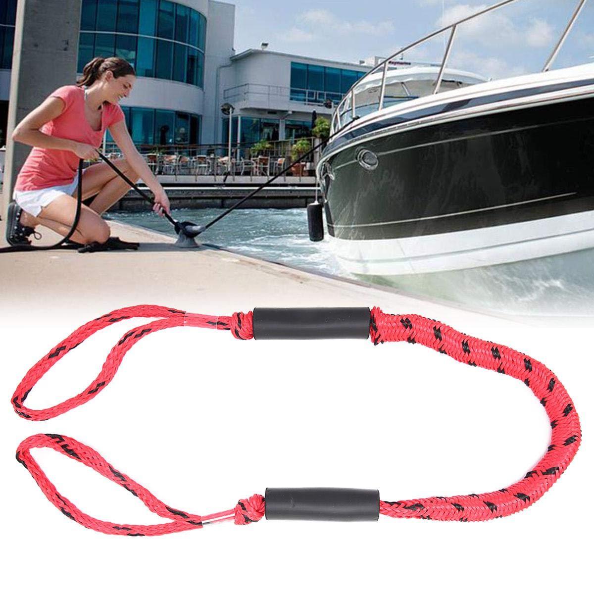 FOONEE L/íneas de Muelle PWC,L/ínea de Cuerdas el/ásticas el/ásticas con Flotador de Espuma para Kayak,Barco,Marino,Moto acu/ática,SeaDoo,Cuerda de Amarre de l/ínea Bungee Dock para Barco 3.5 pies
